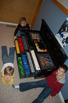 Raisin' 4: The Home Depot trip that saved the day-  DIY toolbox into storage for legos and such