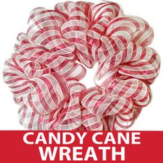 Easy Wire Wreath Form Tutorial: Candy Cane Stripe