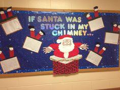 My December Christmas bulletin board