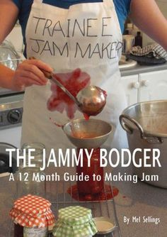 The Jammy Bodger is a practical, delicious diary and an entertaining guide through the trials and tribulations of making jam.  It includes a month by month calendar to what is in season, detailed step-by-step instruction complete with hints and tips to help you every step of the way. But, if you do go wrong, it's not the end of the world because the book includes recipes to make use of that odd unset jam, chewy marmalade or tasteless chutney.  Does the author know me???!!
