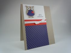 Stampin Up: Owl Builder Punch. Lovely clean and simple design.