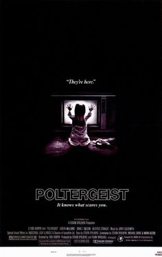 """Life is very pleasant for a California family until a host of other-worldly forces invades their peaceful suburban home. Their house is turned into a supernatural sideshow, and if the family doesn't clear out, they will be swept off into nightmarish chaos."" Find POLTERGEIST in our catalog: http://highlandpark.bibliocommons.com/item/show/643196035_poltergeist"