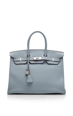 Hermes 35Cm Blue Lin Clemence Birkin by Heritage Auctions Special Collection