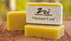 Patchouli Lime Bar Soap | Zoe Natural Creations