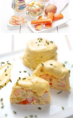 flanitos de marisco con salsa francesa