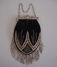 bead bag, handbag, evening bags, bead purs, beaded bags, vintage hats, antiqu, art deco, vintage purses