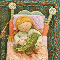 Sally Mavor's stitched work