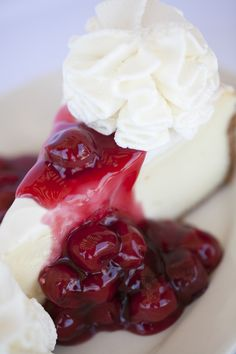 Our Original #cheesecake with sour cream topping and cherry preserves.