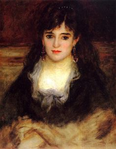 Portrait of a Woman-Pierre Auguste Renoir