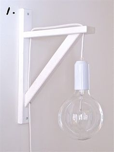 A hanging lamp