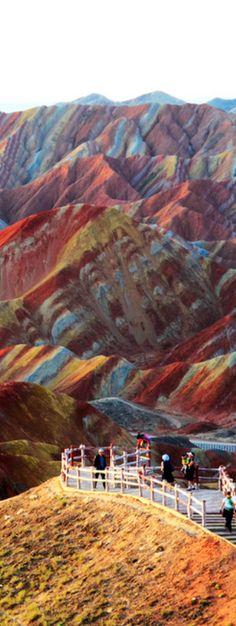 Zhangye Danxia landform in Gansu, China--