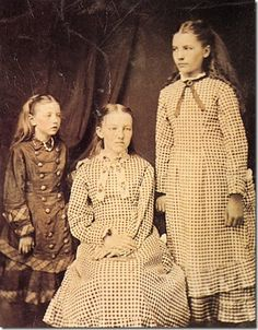 L to R: Grace Ingalls, Mary Ingalls, Laura Ingalls.  Laura Ingalls Wilder Museum - Mansfield, Missouri