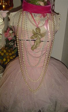 pink with pearls