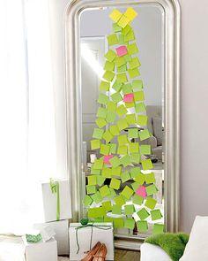 Árbol de Navidad de Post its