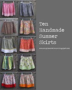 Handmade summer skirts