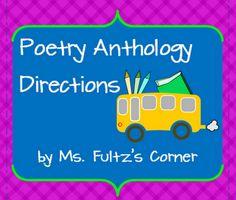 antholog direct, corner 150, school, grade read, readinglanguag art, poetri idea, fultz corner, poetry, poetri antholog