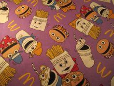 Ronald McDonald Fabric 1 yard by TheSewNSewShop on Etsy, $6.99