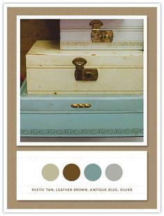 A colour scheme for a sophisticated vintage room . . .