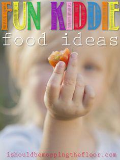 Fun Kiddie Food Ideas.  Visit pinterest.com/arktherapeutic for more #feedingtherapy #pickyeater ideas