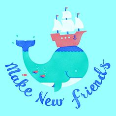 Whales have been known to form friendships that last for years. This playful image is meant to express the hopeful idea of friendships being formed with others from completely different worlds, lifestyles, and experiences. http://www.sevenly.org/products?category=childrens=SEVPinterestSevenly