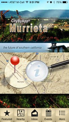 """The new Murrieta California mobile app. Search """"citybyapp"""" or """"Murrieta"""" in the App Store or Google Play store. It's free!"""