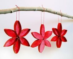 Stained Glass Poinsettias (6-12+yrs old) #christmascraftsforkids #handmadechristmasdecorations #ChristmasWonderland
