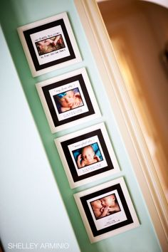 Frame newborn pics of your kids with their stats below. Great way to remember.
