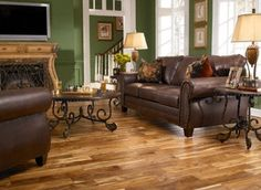 Love the hardwood floors and rich leather :)