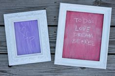 DIY Chalkboard Paint And Antique Frames!