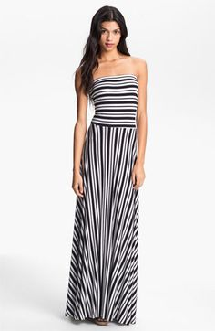 FELICITY & COCO Strapless Stripe Maxi Dress (Nordstrom Exclusive) available at #Nordstrom