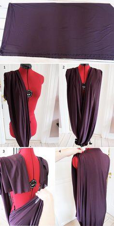 DIY: DRAPED DRESS