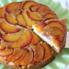 Cornmeal Loaf Cake With Nectarines | Recipe