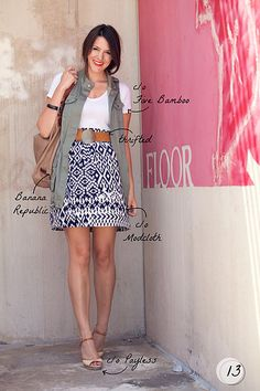 #kendi rocking our simple v-neck! fashion, style, skirts, dress, beauti, ikat skirt, casual outfits, closet, outfit inspir