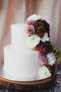 simple cake with flowers