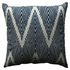 love this zig zag navy pillow!  29.99!