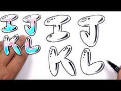 Graffiti Letters Alphabet Bubble Letters Alphabet I J K L