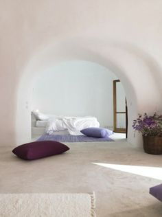 peaceful purple bedroom