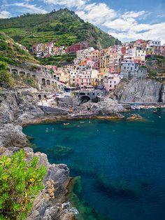 Manarola, Riomaggiore, Liguria, Italy by Pauli Antero
