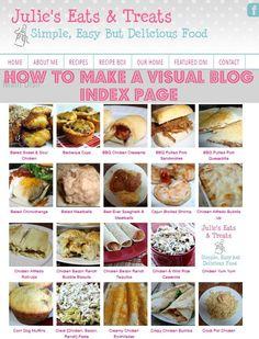 How To Make a Visual Blog Index Page via www.julieseatsandtreats.com #blog
