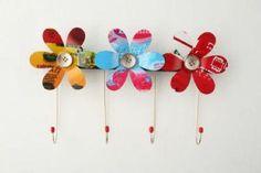 Flores de garrafa pet e botões