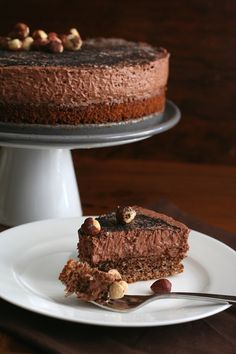 Low Carb Chocolate Hazelnut Mousse Cake Recipe | All Day I Dream About Food