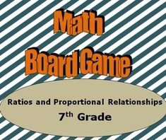 (Digital/multimodal) This is a  website that has all kind of board-games for 7th grade on ratios and proportions. *