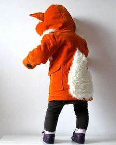 Kids fox coat orange