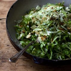 "shaved fennel salad with arugula, dill, fetta, lemon juice  olive oil... ""short list of ingredients that don't sound particularly exciting on the page, but come together into something more than the sum of their parts"" - Heidi Swanson, recipe from her Super Natural everyday cookbook"