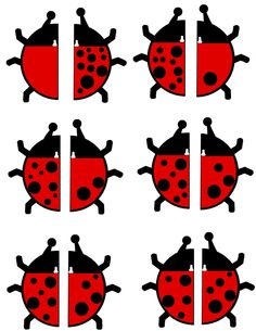 Free Ladybug Math Activity (Make 10 Spots) from Preschool Powol Packets