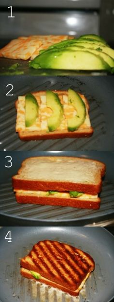 avocado and cheese grilled sandwich