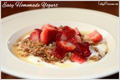 Try this Easy Homemade Yogurt in a CrockPot and you'll never buy store-bought yogurt again! via FaithfulProvisions.com