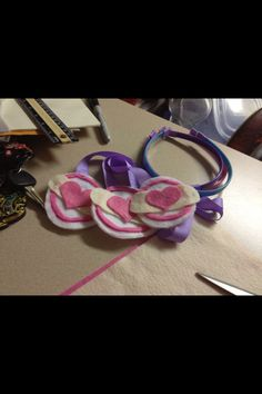 DIY Doc Mcstuffin stethoscopes, my mom brought some but I thought this was cuter