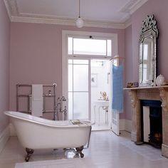 French Mauve Bathroom.