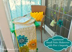 Small Outdoor Patio Space Makeover #Pier1Outdoors #ad #Latina Bloggers